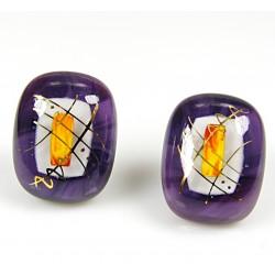 Kolczyki wkrętki z kolekcji Ku Słońcu Fiolet