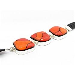 Bransoleta w oprawie trapez z Pomarańczowej kolekcji 20