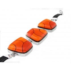 Bransoleta w oprawie trapez z Pomarańczowej kolekcji 25