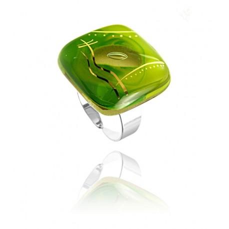Pierścionek z kolekcji Laguna Zielona 25
