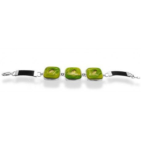 Bransoleta w oprawie z kolekcji Laguna Zielona 25