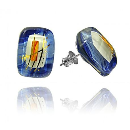 Kolczyki wkrętki z kolekcji Ku Słońcu Niebieski