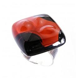 Pierścionek karo z kolekcji Maki Czerwone 25