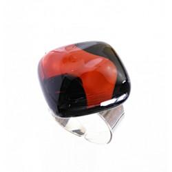 Pierścionek karo z kolekcji Maki Czerwone 20