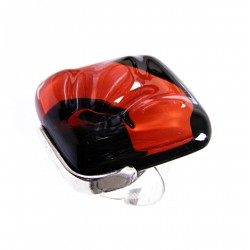 Pierścionek karo w oprawie z kolekcji Maki Czerwone 30