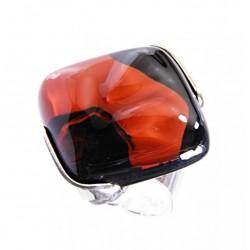 Pierścionek karo w oprawie z kolekcji Maki Czerwone 25
