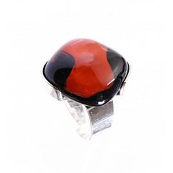 Pierścionek karo w oprawie z kolekcji Maki Czerwone 20