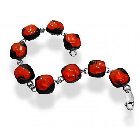 Bransoleta mała z kolekcji Maki Czerwone