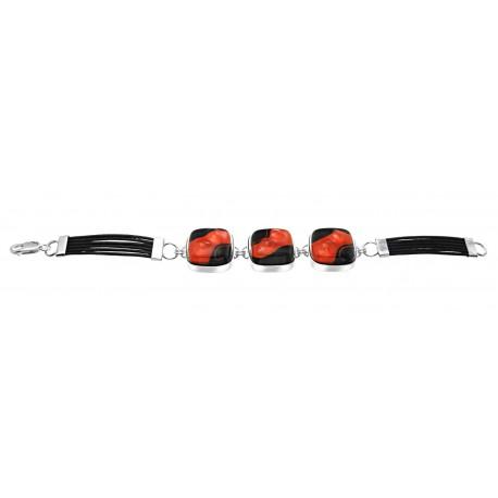 Bransoletka z kolekcji Maki Czerwone 3 elementy