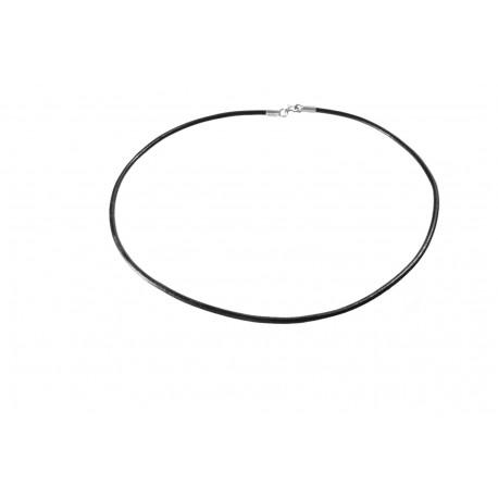 Rzemień naturalny okrągły czarny 2.5mm