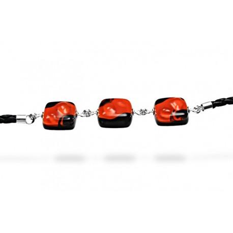 Bransoleta z kolekcji Maki Czerwone