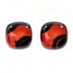 Kolczyki wkrętki z kolekcji Maki Czerwone