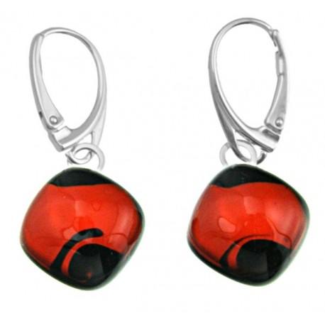 Kolczyki karo z kolekcji Maki Czerwone 15
