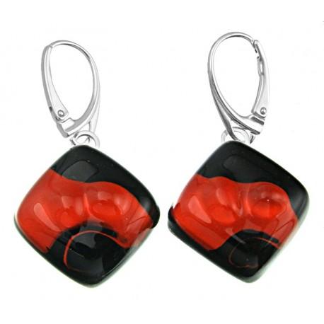 Kolczyki karo z kolekcji Maki Czerwone 20