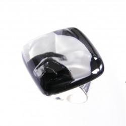 Pierścionek karo z kolekcji Maki Białe 25