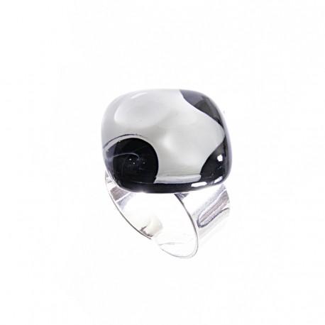 Pierścionek karo z kolekcji Maki Białe 20