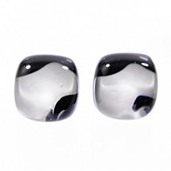 Kolczyki wkrętki z kolekcji Maki Białe