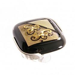 Pierścionek karo w oprawie z kolekcji Klimt 30