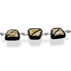 Bransoleta trapez z kolekcji Klimt