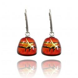 Kolczyki trapez z kolekcji Tramonto Rosso 15
