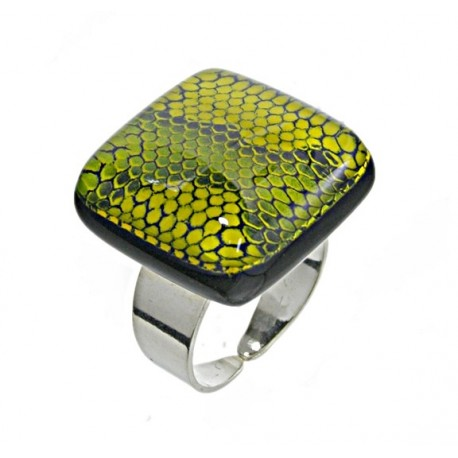Pierścionek z kolekcji Kobra Zielona 25