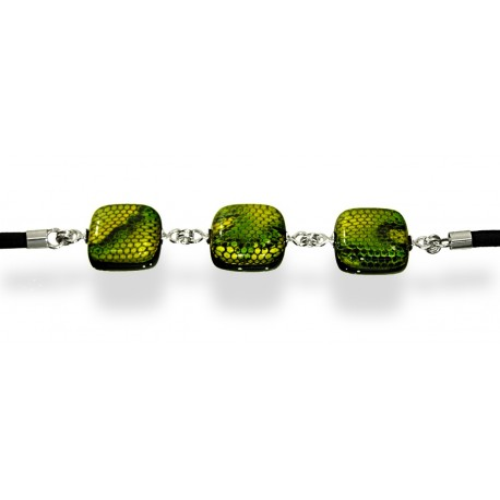 Bransoleta z kolekcji Kobra Zielona